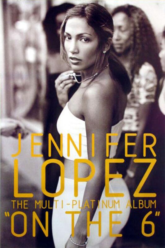 Jennifer Lopez - On the 6 (1999) original album promo poster - s-sided - rolled