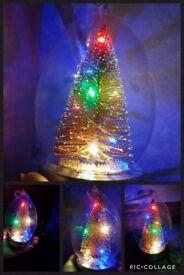 light up glass xmas tree