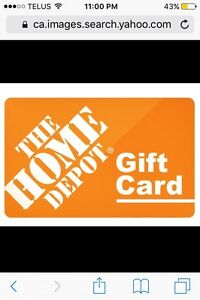 Home Depot Gift Card $1000