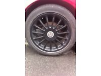 "17"" MG ZR Multispoke Alloys With Tyres"