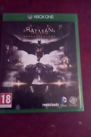 Batma arkham knight xbox one game
