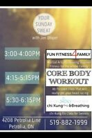 Family fitness & core body workout