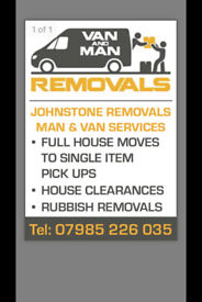 Paisley removals & man&van service