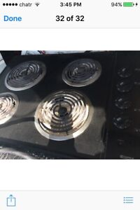 Black Coil Cook Top For Sale..$165/=..647 970 1612..Ajax