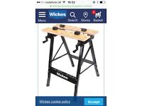 Clamp foldable workbench