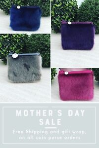 Sealskin Coin Pouches