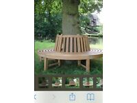 Wooden tree seat