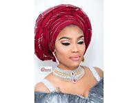 Nigerian Makeup Artist London ,Gele Headgear.