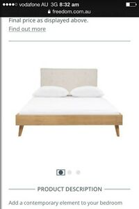 Queen size head board Upholstered freedom Regents Park Auburn Area Preview