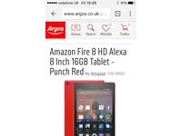 Amazon Fire HD8 inch 16gb tablet - Red