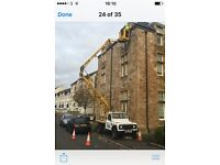 CHERRY PICKER HIRE/PAINTING/PROPERTY MAINTENANCE/ALL HEIGHT WORK/GUTTERS/SOFITS/AYRSHIRE NORTH SOUTH