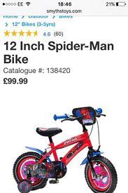 Spider-Man smyths bike 12 inch