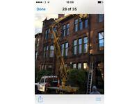 cherry picker hire hillhead hyndland exterior painters pressure washing