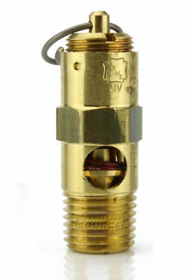 165 Psi Air Compressor Safety Relief Pop Off Valve Solid Brass 14 Male Npt New