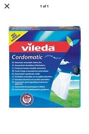 Vileda cordomatic retractable washing line NEW BOXED