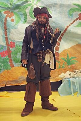 Pirates Captain Jack Sparrow Halloween Costume BOOTS boot covers men's size 12 !