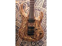 Cort X-URABAYA Limited Edition Natural Satin Electric Guitar with case