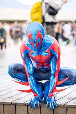 Ultimate 2099 Spider-Man Cosplay Costume Jumpsuit Zentai Suit Bodysuit Halloween (Ultimate Spiderman Costume)