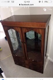 Wooden glass cabinet display cabinet cupboard