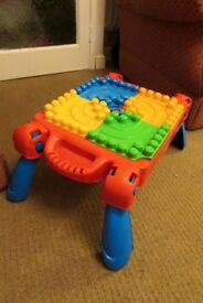 Mega blocks table comes with bricks