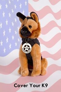 Toy Plush German Shepherd Police Dog - Working K-9 Fundraiser