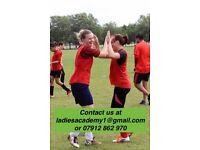 BEGINNERS ACADEMY FOR LADIES WOMENS FOOTBALL SOCCER/SOCIAL/FITNESS/MIDWEEK/FUN/FUTSAL/PLAYER/LONDON