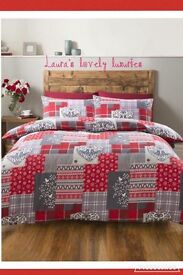 Alpine patchwork duvet set