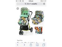 3 in 1 Casatto, included carry cot/car seat&6+ seat!