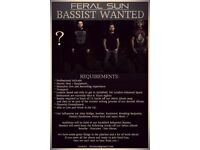Rock Metal Bassist Wanted for band with Management.