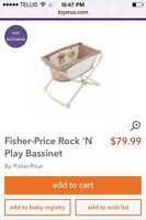 Fisher price baby bassinet!