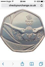Rio game team gb 50p coin