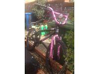 Girls stunt bmx bike