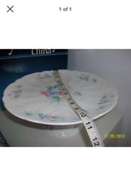Cake stand little sweetheart by aynsley China, footed base not used as table ware only in cabinet