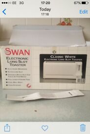 Swan electric long slot toaster
