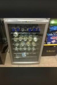 RacVin wine fridge stainless  large 24 bottle with glass door.