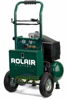 Portable Contractor 2 Hp Air Compressor Rolair Vt20tb Single Stage 115v 125 Psi