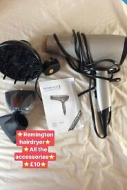 Remington 2200w booklet and attachments