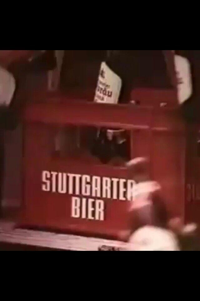 Kasten Stuttgarter Bier aus Le Mans Porsche 911 Werbespot Hofbräu in Hessen - Mücke