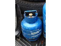 Empty 4.5kg Butane Calor gas bottle.
