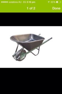 Wheel Barrow.  Poly tray.  Steel frame.  100 L  Picnic Point Bankstown Area Preview