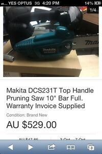 Makita DCS231T petrol Chainsaw Willetton Canning Area Preview
