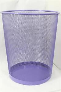 Purple mesh waste bin kitchen office bathroom bedroom for Purple bathroom bin