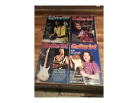 37 Guitarist magazines from 1980's and 1990's