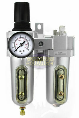 34 Compressed Air Moisture Filter Regulator Oiler Separator Lubricator Combo