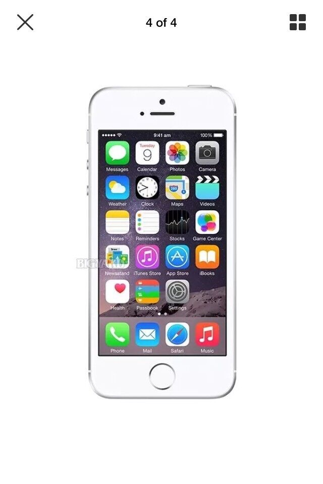 Brand new iPhone 5s 16gb silver 12months Apple warranty