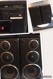 Pair of JVC 3 way speaker model SP-E95 TN 100W full working order