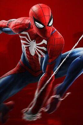 "MARVEL AMAZING SPIDER-MAN PS4 COMIC CON DECOR MOVIE 13""X19"" POSTER PRINT #2"