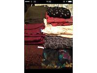 8 scarf bundle Tommy Hilfiger Uniqlo Primark etc