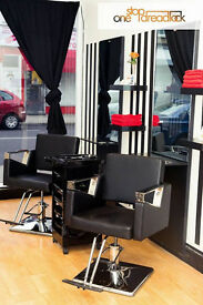 CHAIR TO RENT IN A SALON IN NORTH LONDON FOR EYEBROWS, BARBER OR HAIRDRESSER. RENT IS £125 PER WEEK