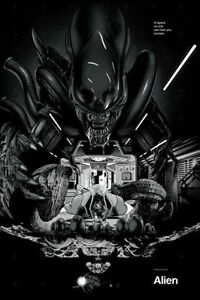 Alien REGULAR EDITION Martin Ansin Mondo Movie Poster Print Mint Kevin Tong